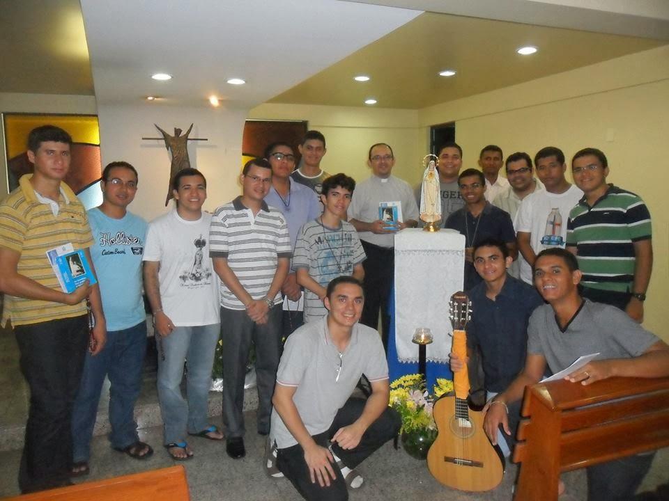 1º Cenáculo do ano com os Seminaristas do Propedêutico da Arquidiocese de Fortaleza.