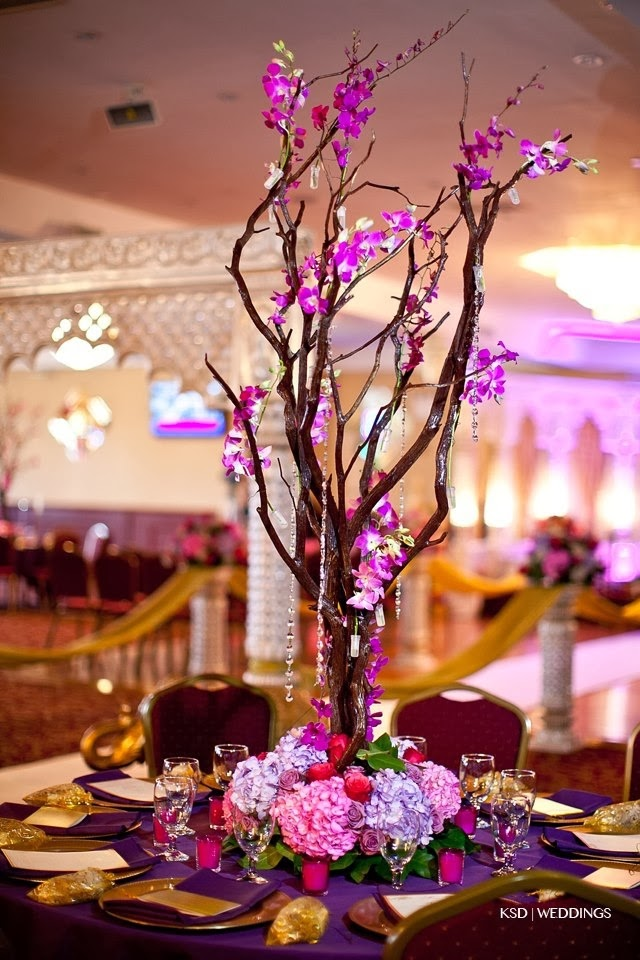 Sonal j shah event consultants llc tree style centerpieces