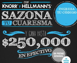 concurso promocion mexico 2013 knorr hellmanns gana 250mil pesos, celulares, tablets, mp3 reproductores