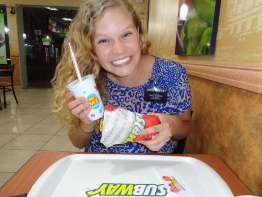 Ashley and Subway