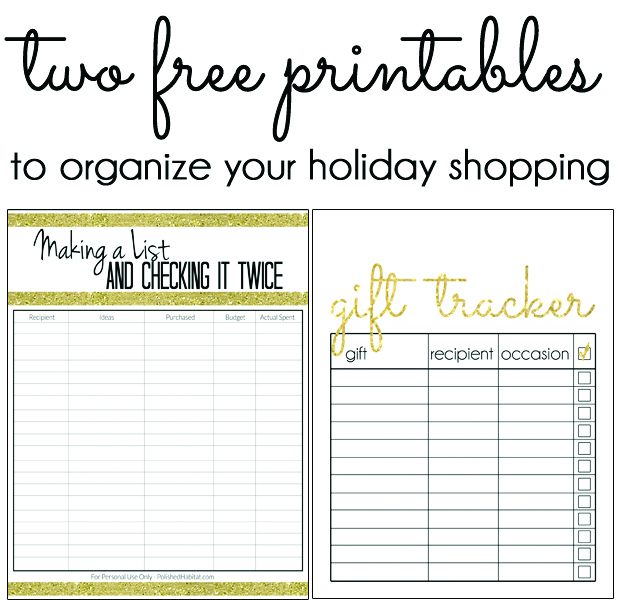 Printable Christmas Shopping Lists