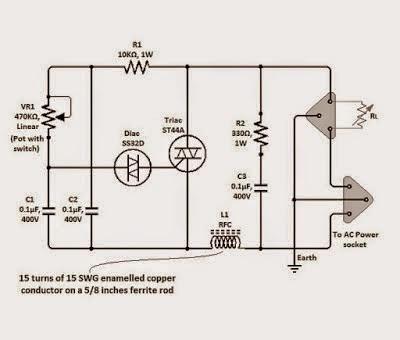 simple triac dimmer circuit schematics world rh schematics world blogspot com