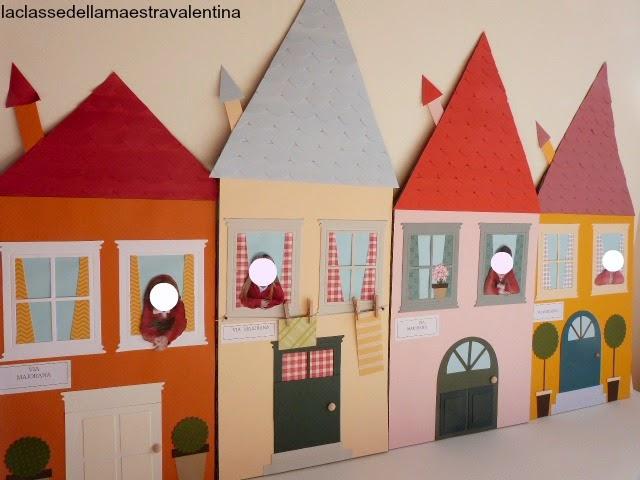 La classe della maestra valentina casette di carta una passione - Costruire una casetta di cartone per bambini ...