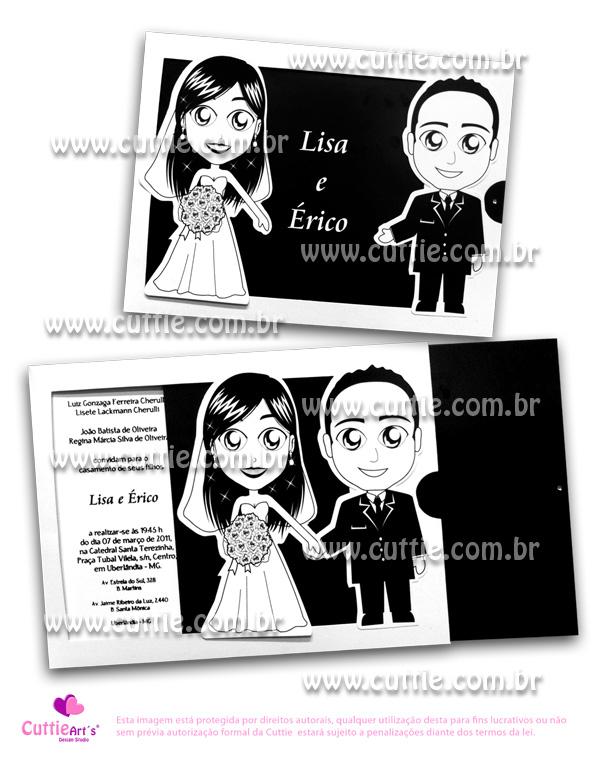 Convite de casamento personalizado