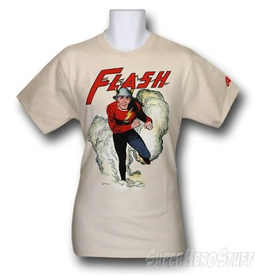 Click here to buy this Golden Age Flash running t-shirt at SuperHeroStuff!