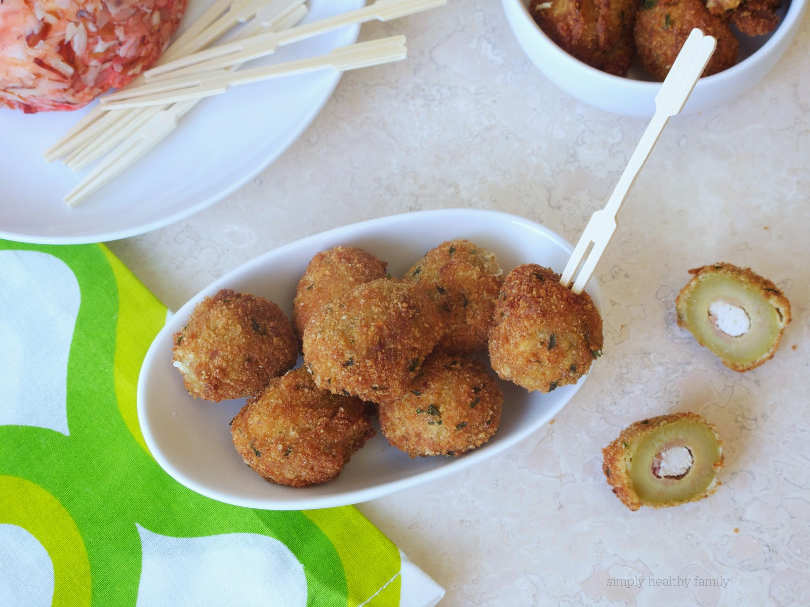 Simply Healthy Family: Fried Green Olives Stuffed with ...