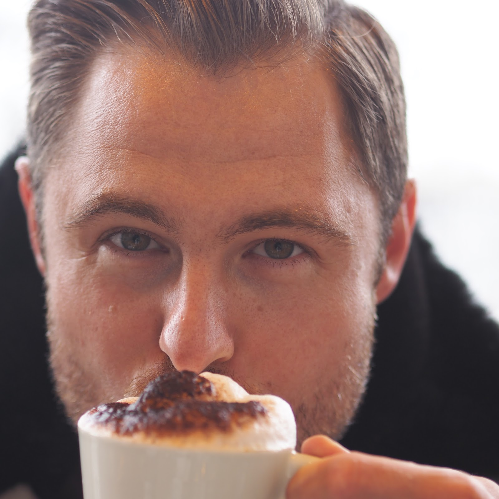 Man drinking Cappuccino