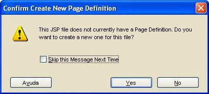 aviso creacion pagina definicion