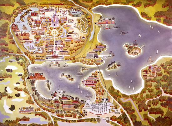 Jedi Mouseketeer Vintage Walt Disney World Old Maps Of