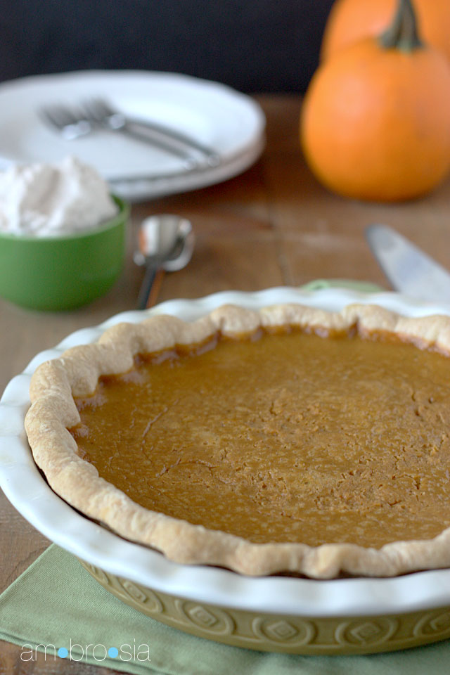 Classic Pumpkin Pie Recipe — Dishmaps