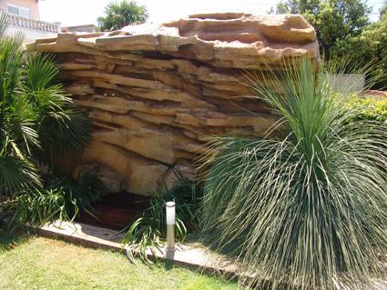 Proyectos tematicos y producciones ducha cascada para for Cascada artificial jardin