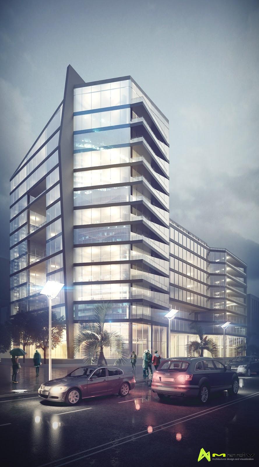 Madv architecture edificio oficinas y comercio for Edificio oficinas