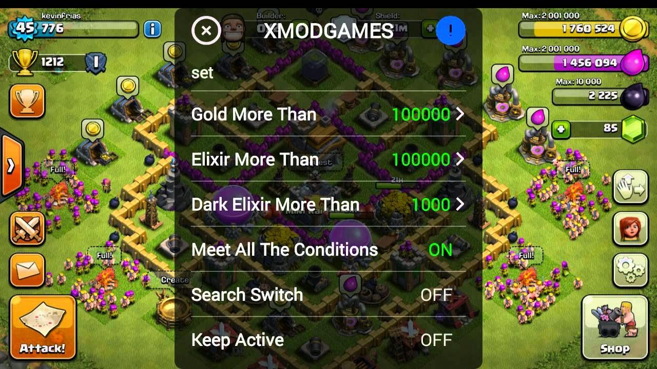 Cara Cheat COC dengan Xmod Games