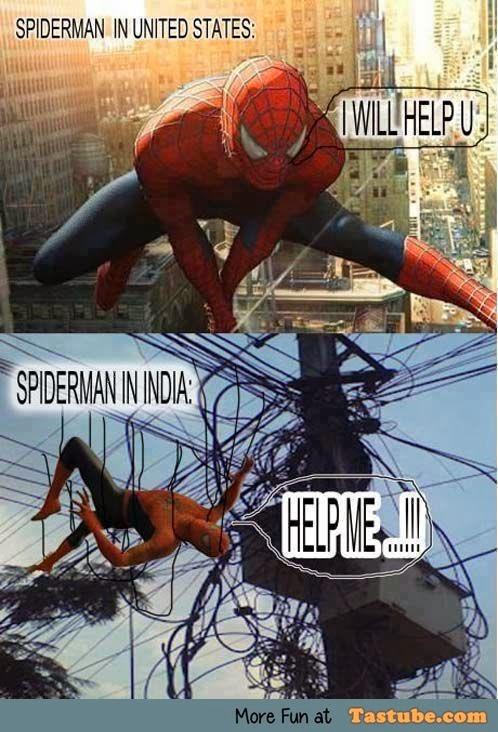 Spiderman in india