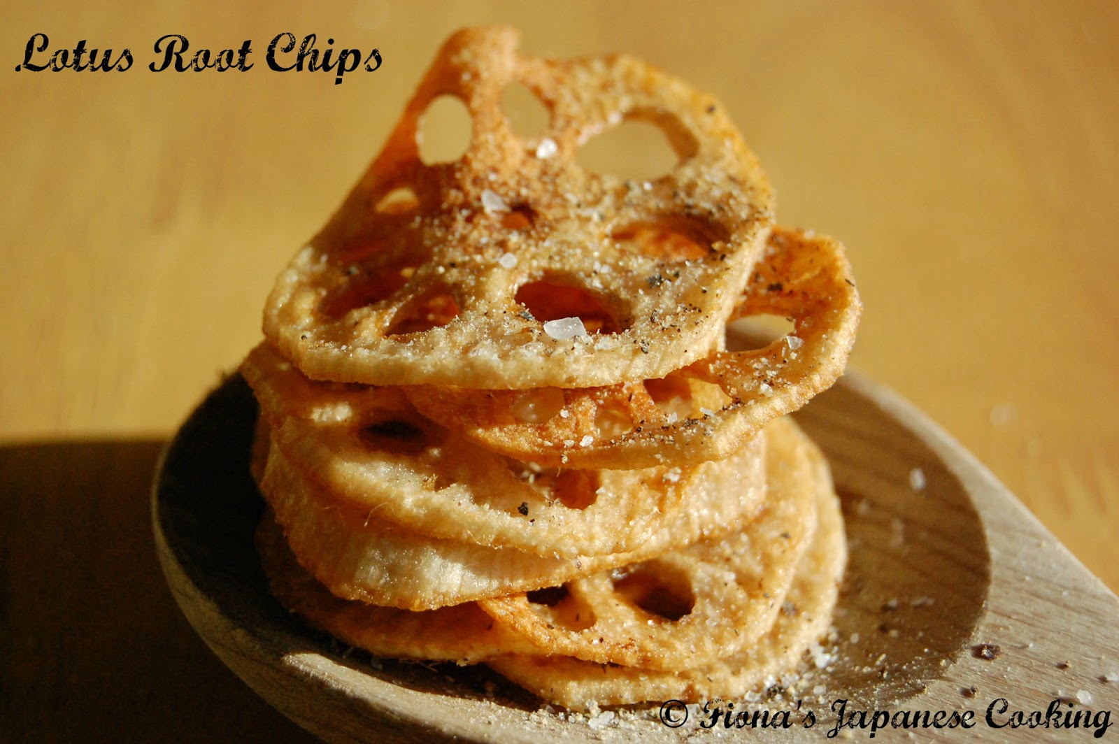 Fionas japanese cooking my japanese recipe twist lotus root chips fionas japanese cooking forumfinder Images