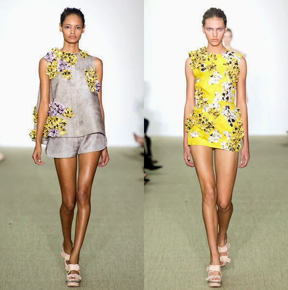 Tendências em roupas femininas flores texturizadas