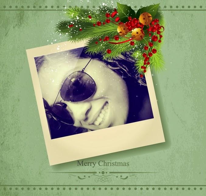 cartão de natal com foto