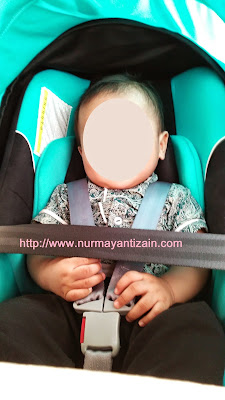 baby mahdi on carseat