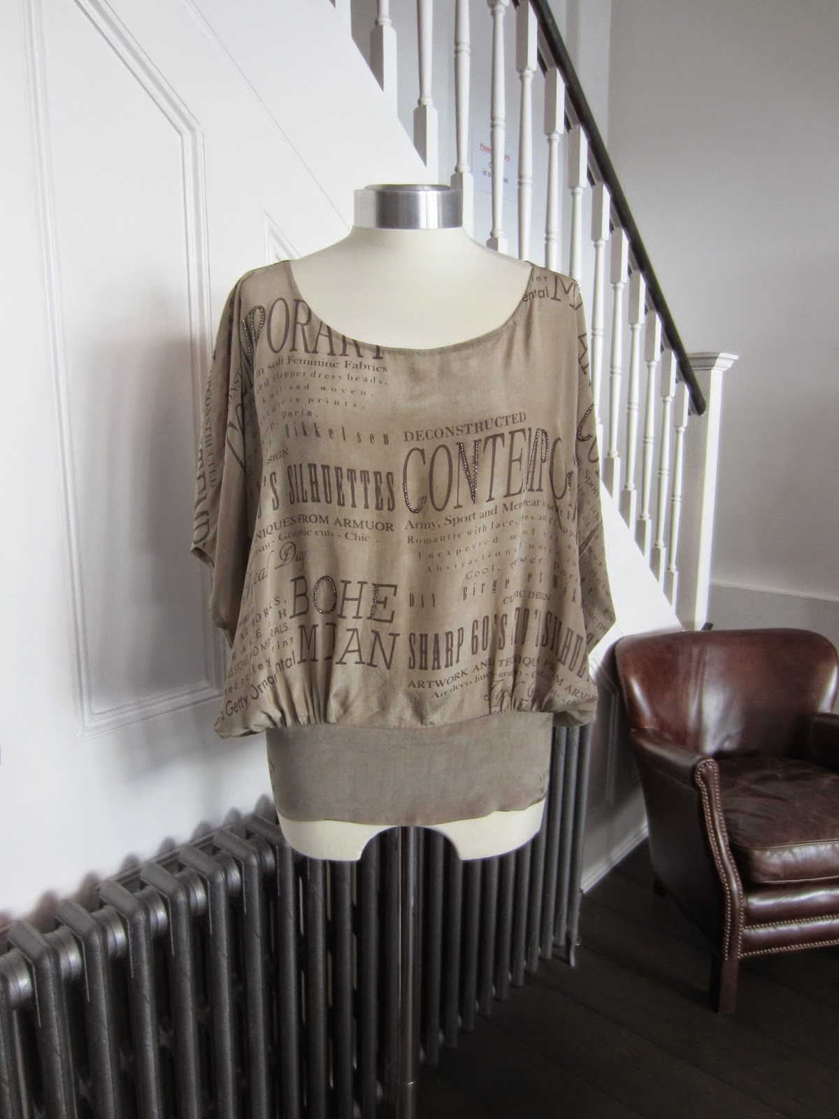 Day Birger et Mikkelsen Beige Silk Graphic Top