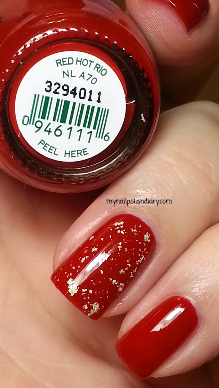 My Nail Polish Diary: OPI Red Hot Rio with OPI The Man With The ...