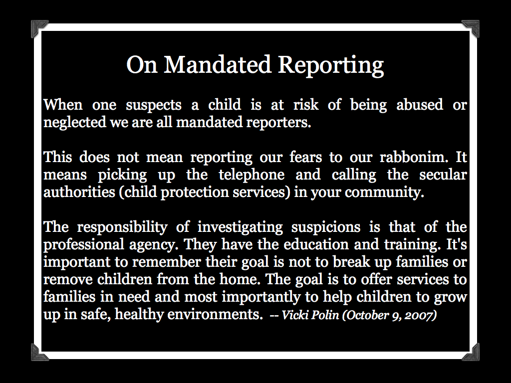 mandated reporting Mandated reporters in georgia prosolutions training is proud to partner with the georgia department of human services, division of family and children services, and the georgia department of education to bring you these courses on requirements for reporting child abuse and neglect in the state of georgia.