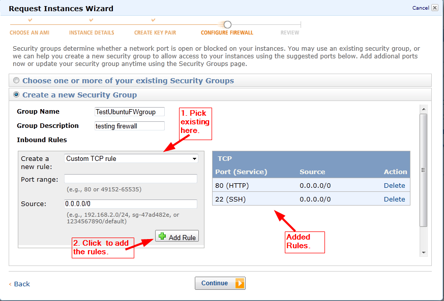 determining firewall rules