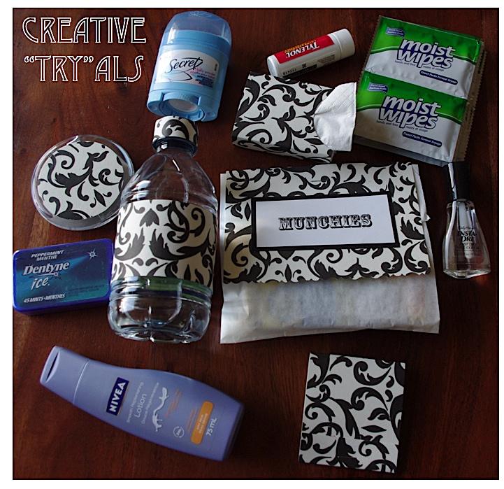 creative try als wedding day survival kit wedding shower gift idea
