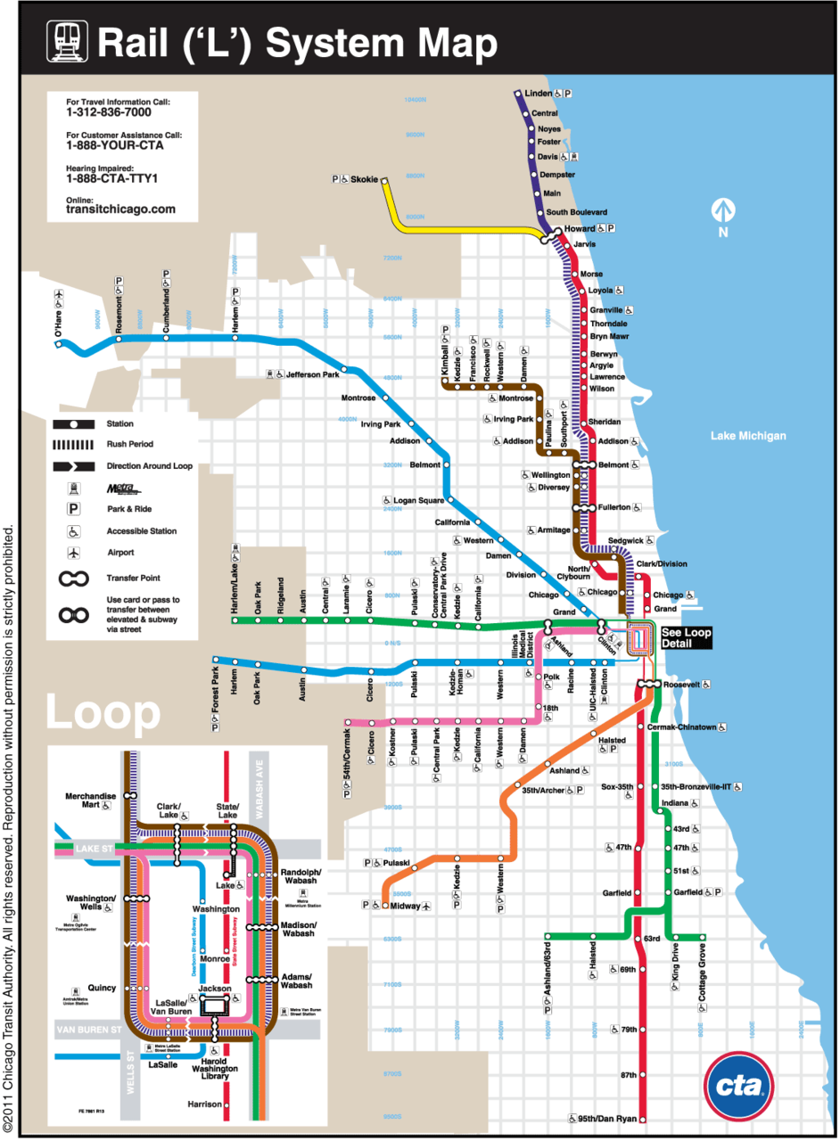 Best Image Of Diagram Cta Map Chicago More Maps Diagram And - Chicago metro map pdf