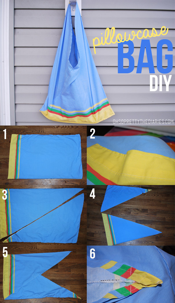 Diy Bag Out Of Pillowcase: the DIY  PILLOWCASE BAG   Hey Wanderer,