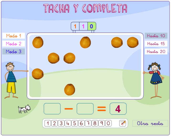 TACHA Y COMPLETA