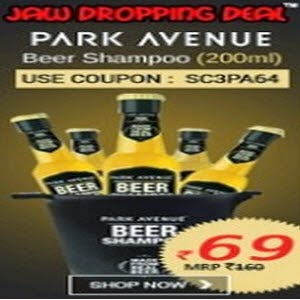 Shopclues: Buy Park Avenue Beer Shampo 200Ml + Rs.2 cashback at Rs.83