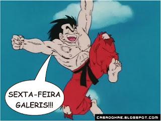 Goku fica feliz pois a sexta-feira chegou