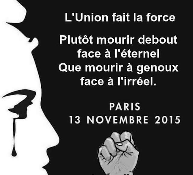 Notre France en deuil.Dressons nous contre nos ennemis...