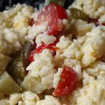 Gloubi-boulga #4 - Riz, tomates, comté, oeuf dur (voir la recette)