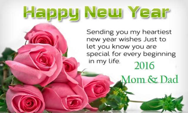 Best New Year Greeting & Pictures 2016 to Wish your Parents