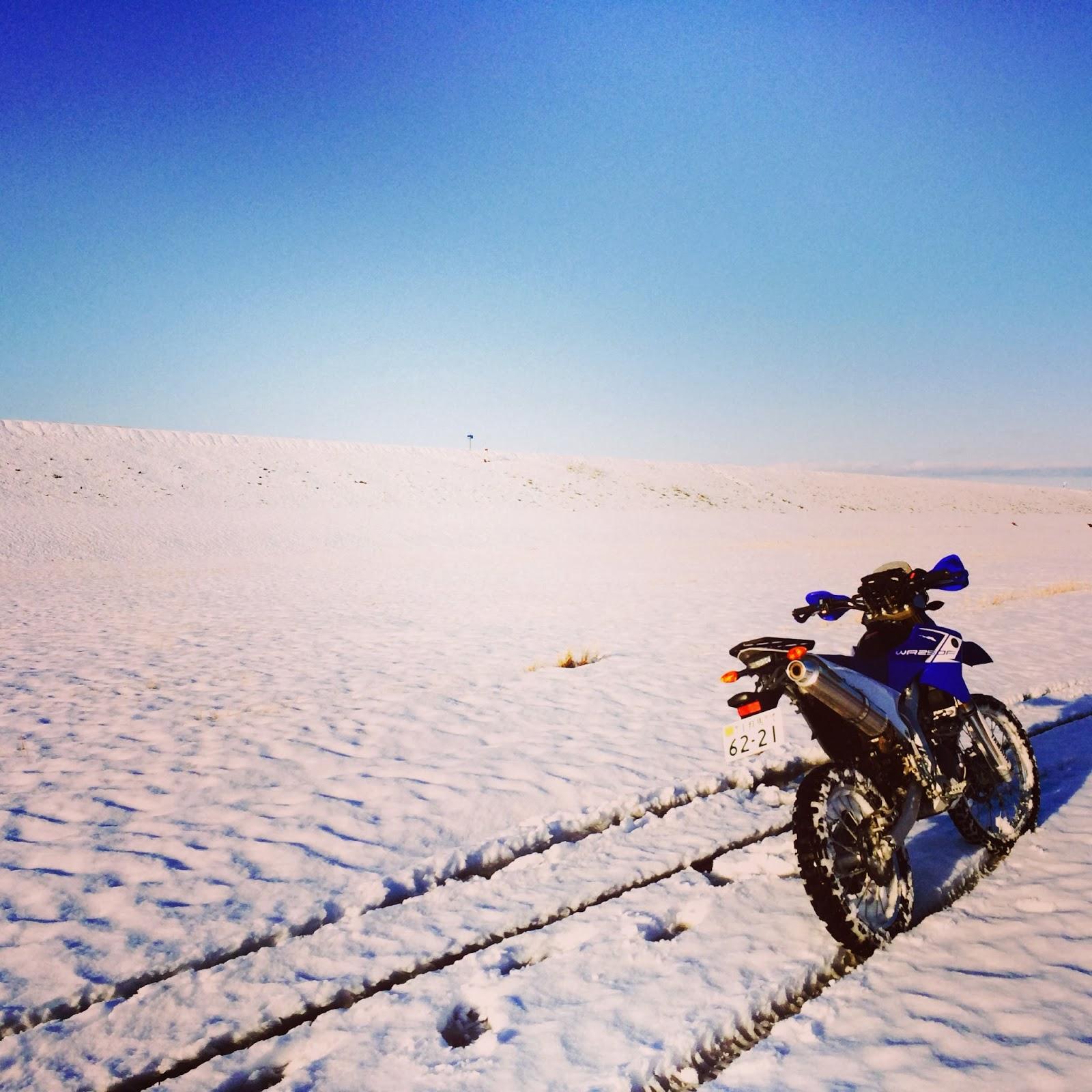 WR250R snow ride