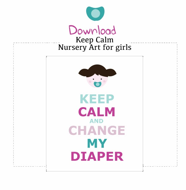 free keep calm artwork for baby girl