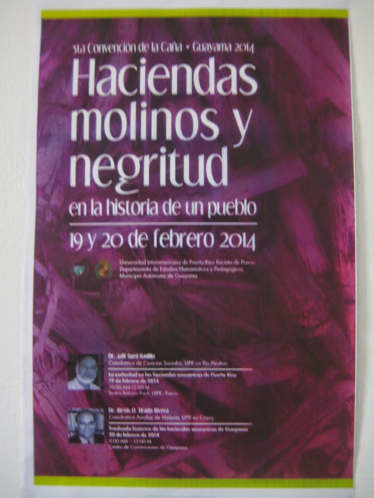 5 ta CONVENCION DE LA CAÑA, Guayama 2014