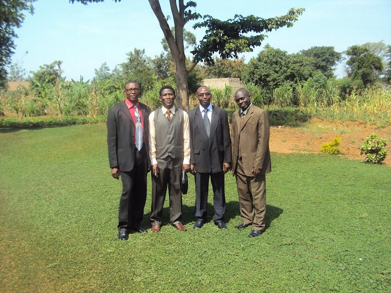 Pastor Stephen, Pastor Richard, Pastor Moses and Pastor Jonathan.