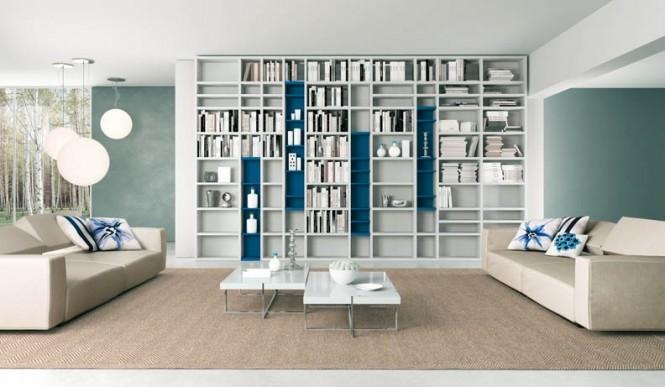 Dekorasyon aksesuar modern kitaplik modelleri - Hedendaagse interieurs ...