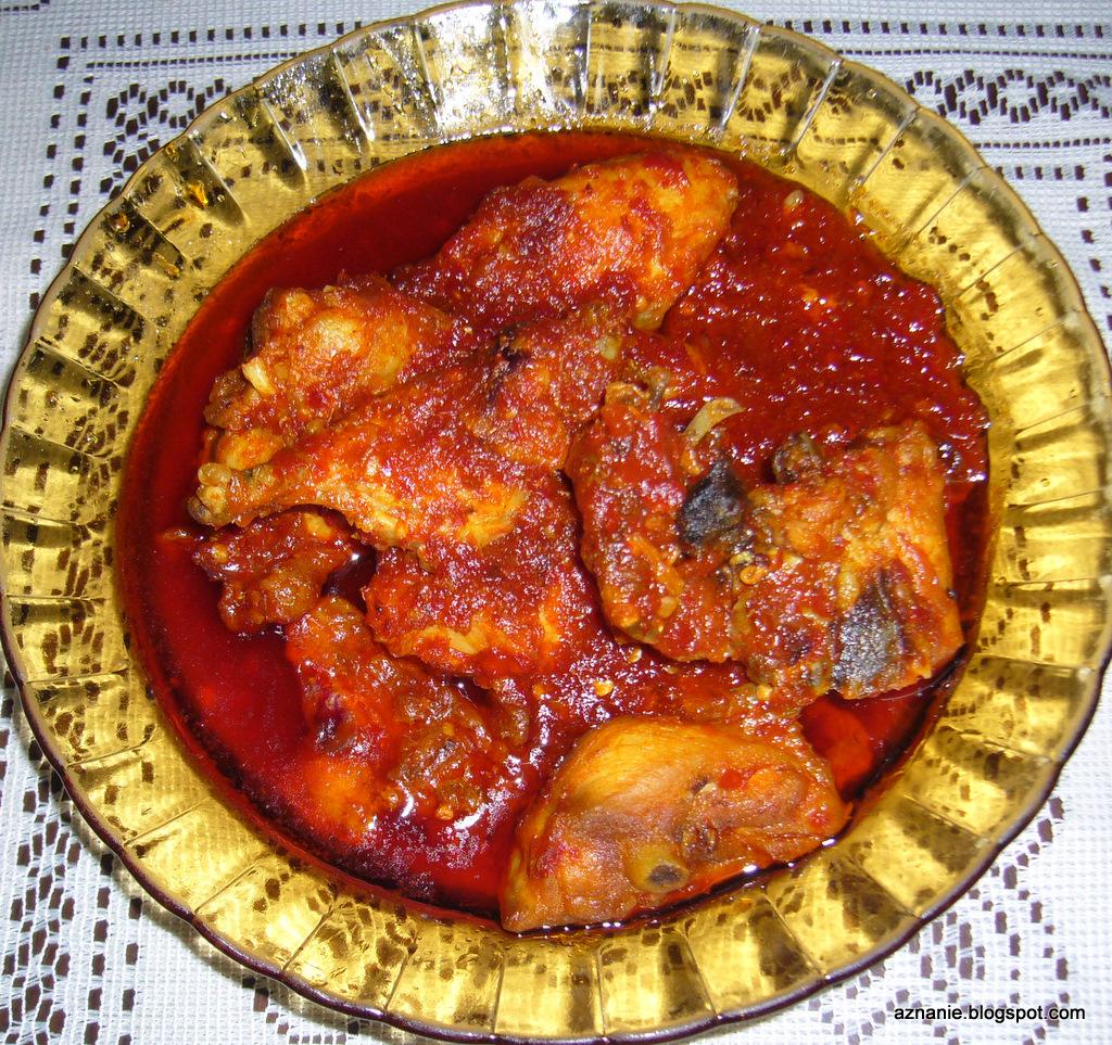 Sambal tumis ayam bahan bahan ayam digoreng dahulu separa masak