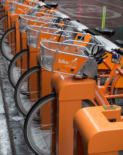Bike rental scheme in Santiago, Chile