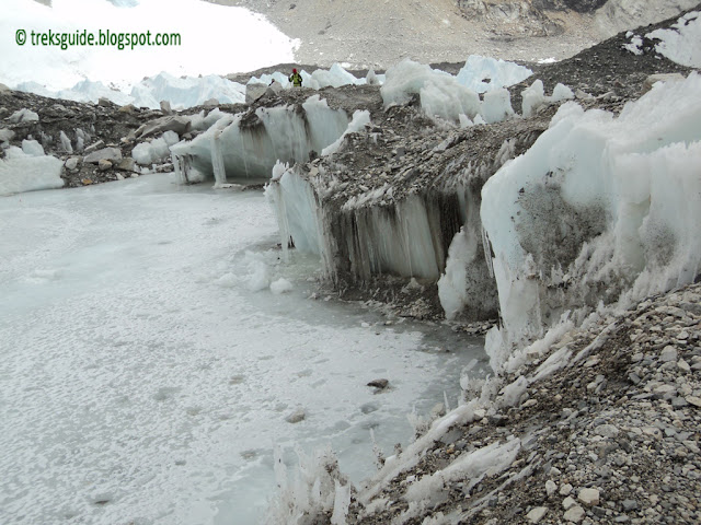 Ice in Everest base camp