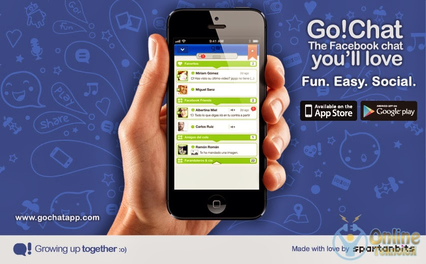 Go!Chat for facebook android uygulaması