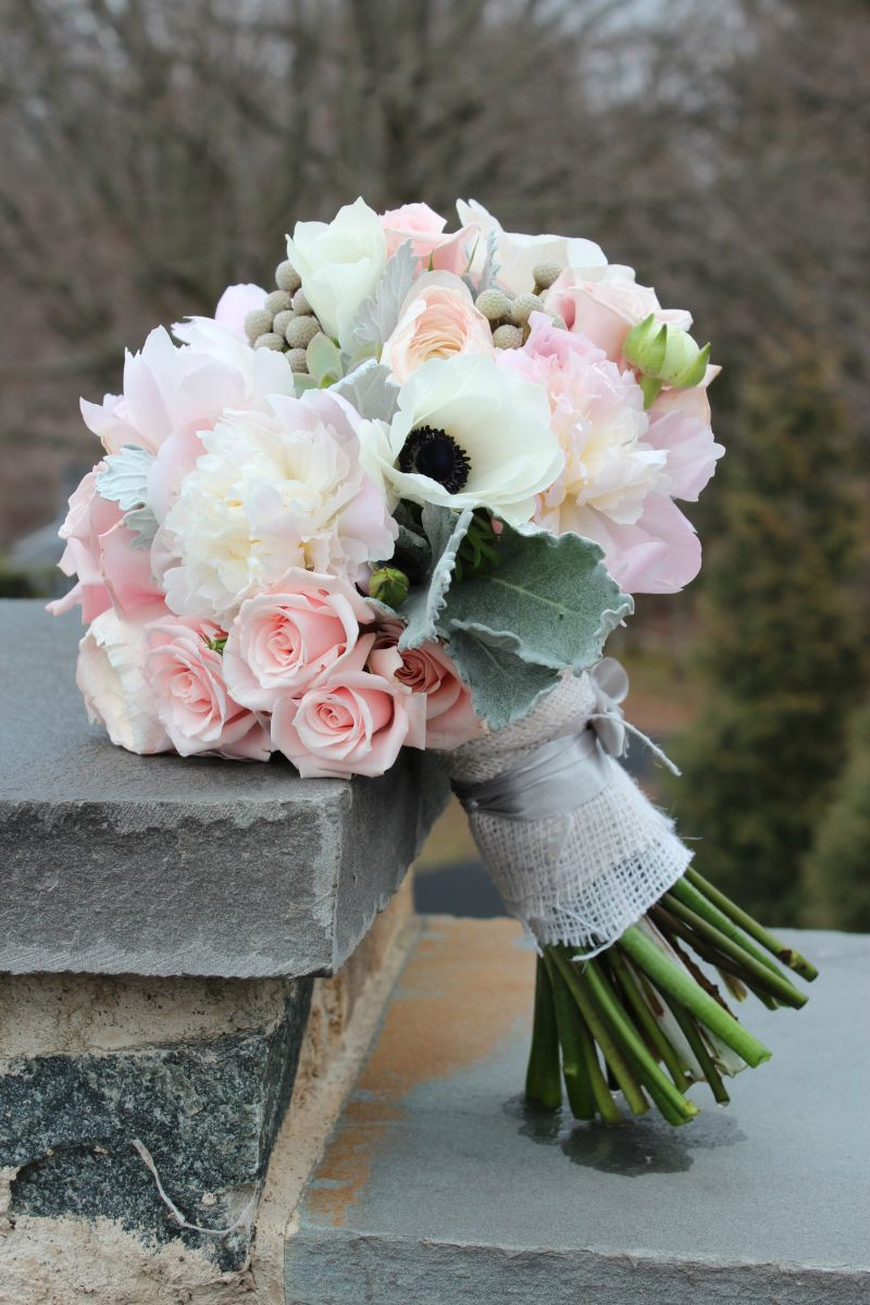 Savannahs Garden Blush And Grey Katie And Marks Wedding At