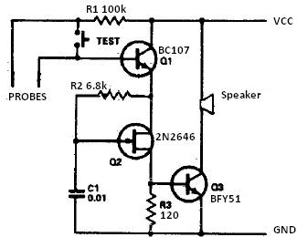 circuits apmilifier  indicator alarm for water level