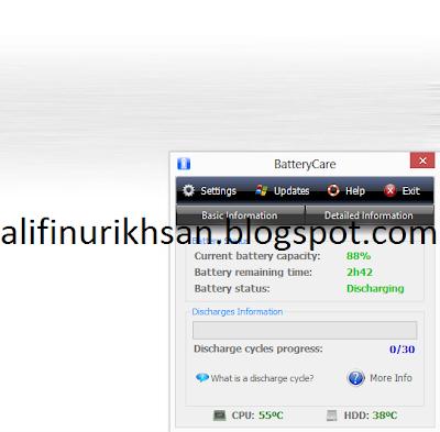 Battery Care Aplikasi untuk Menghemat Baterai Laptop