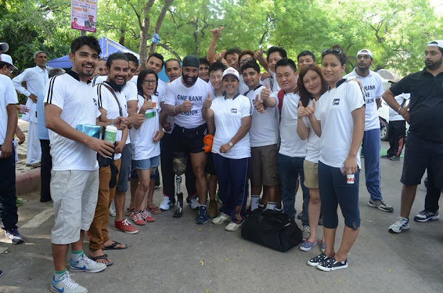 Gorkha Youths  took part in the 26th Kargil Vijay Diwas marathon to support One Rank One Pension