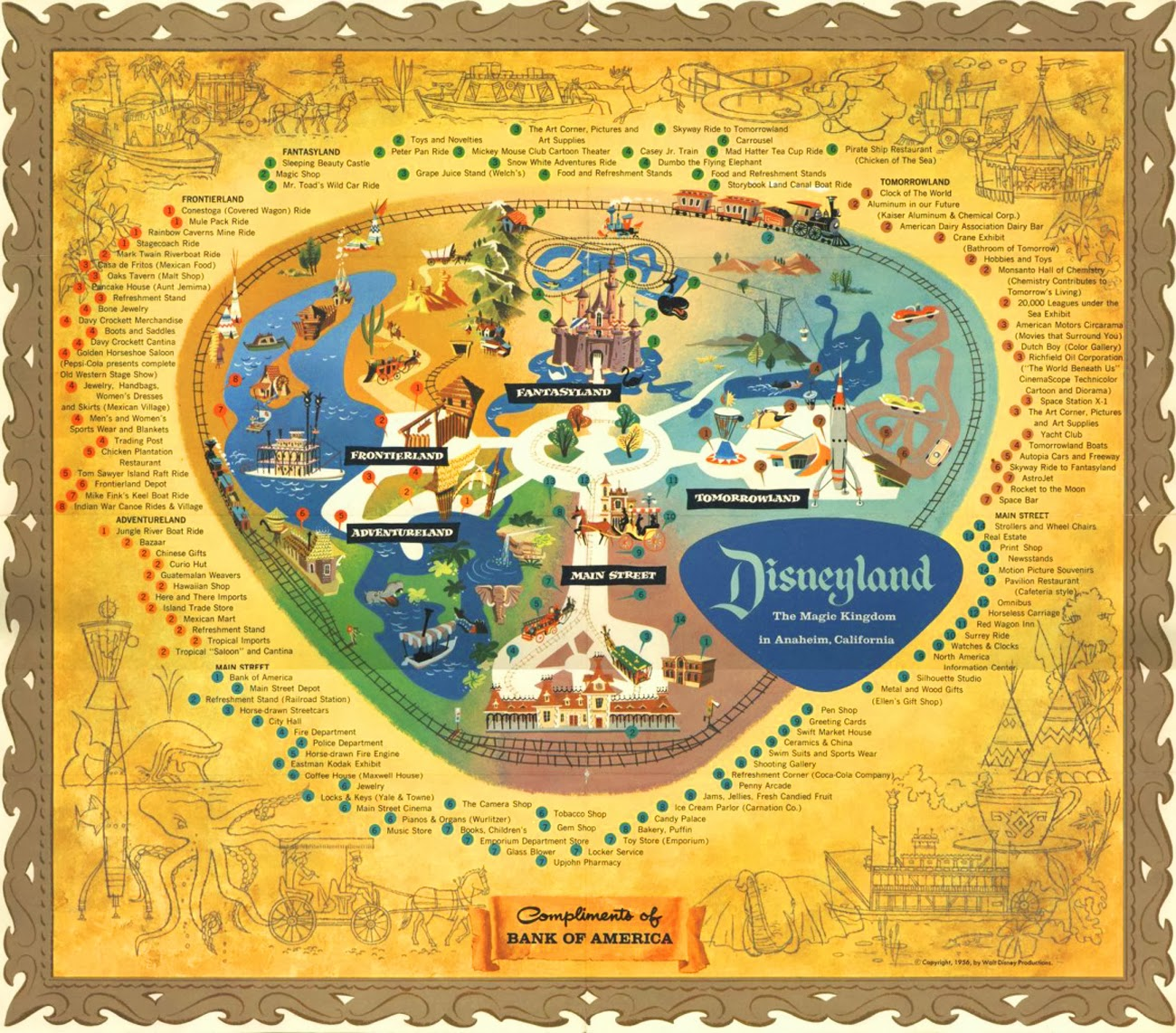 Insights and Sounds: Vintage Disneyland Map