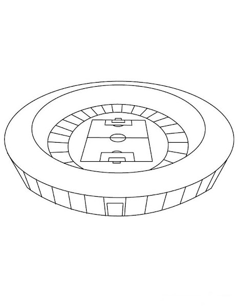 Soccer Stadium Coloring Pages